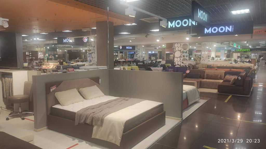 Ремонт салона кроватей MOON в ТЦ Формат